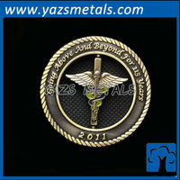 custom cheap military coin decoration, with design draft
