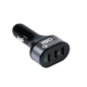 IBD universal mobile phone accessories 12V output 3 port car charger usb with quick charge 3.0 for mobile phone