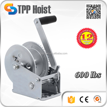 Galvanized Multi-function Manual Hand Winch Windlass 600lbs With Wire Rope and Hook for Anchor