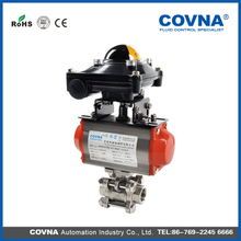 Good quality stainless steel 304 indicator limited switch pneumatic ball valve