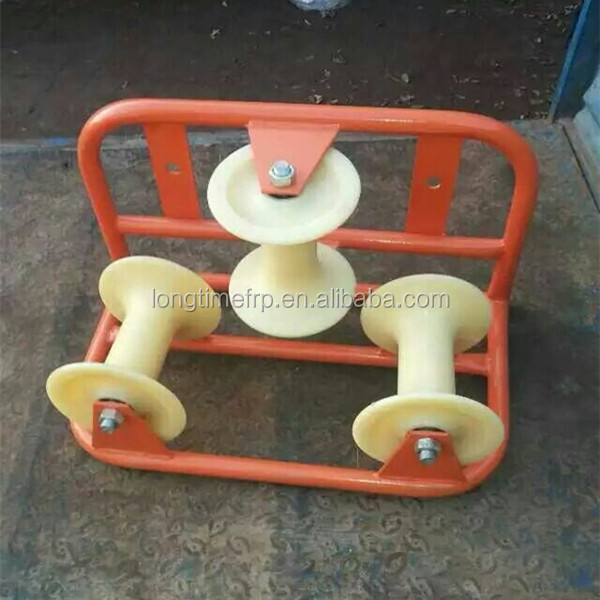 Economic top sell cable guide pulleys, Corner cable roller, Three wheel cable pulley