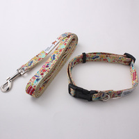 Best quality wholesale training dog collar and leash with high brightness