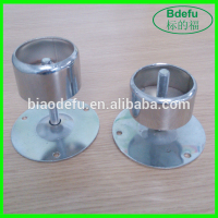 Metal round pipe adjustable foot cups tubing fitting