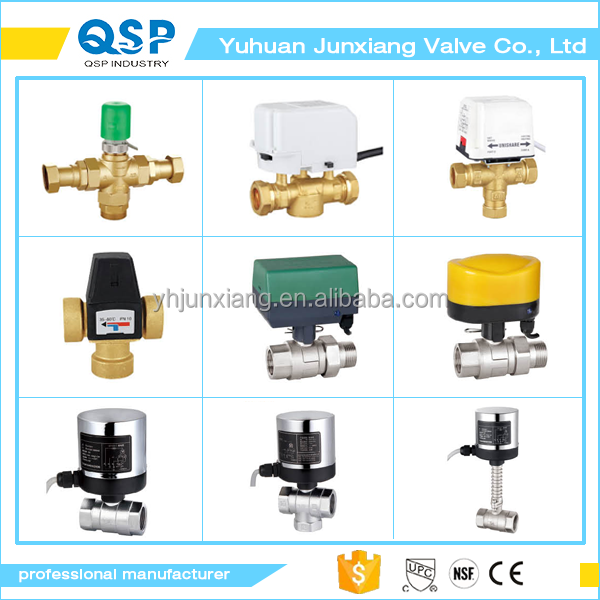 The national market popular red butterfly handle natural gas in the double wire 1/2 inch water solenoid valve
