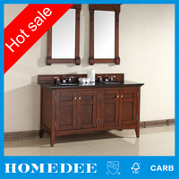 60 inch Floor model bath vanity Double Sink Twin Bathroom Vanities