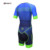 Custom high performance cycling skin suit, Men short sleeve blue skin suit design for free