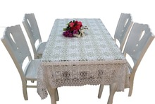 Lace table cover for wedding or dining