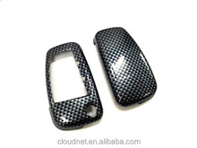 Hard Plastic Keyless Remote Key Fob Flip Key Protection Case Cover (Gloss Carbon Fiber) For Audi