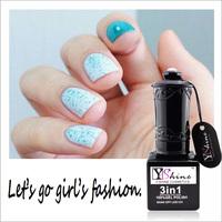 Y-Shine OEM UV / LED Gel Polish Nail Polish Soak Off One Step Gel Green Glitter Powder Nail Kits Y02-52