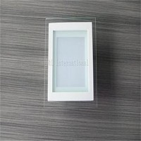 12W square glass LED Recessed ceiling light SMD5730 24pcs Led panel light