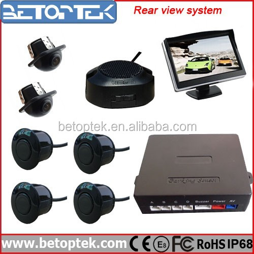Betoptek Factory Supply Rear View Car Camera Aftermarket Parking Sensors