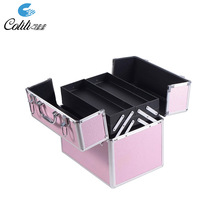 Portable fashionable beauty aluminum <strong>brush</strong> makeup cosmetic case
