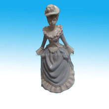 Home decorative ceramic lady figurine