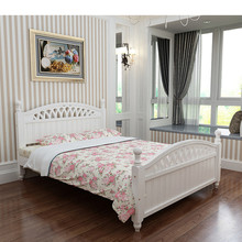 SC0159Exquisite carving solid wood king size platform beds and bed frames