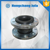 Pipeline single bellow sherical flexible rubber expansion joint