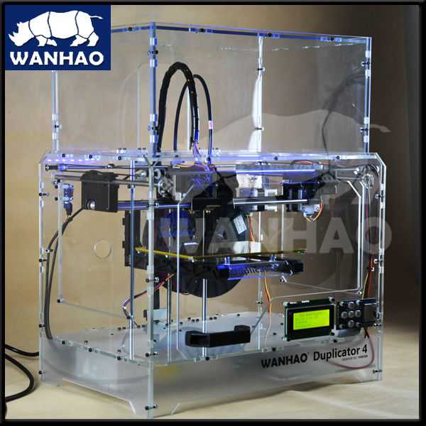 New Coming!! wanhao 3d printer with Dual Nozzles of build size 225*145*150 mm