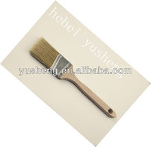 long wooden handle 100 pure bristle angle paint brush with low price