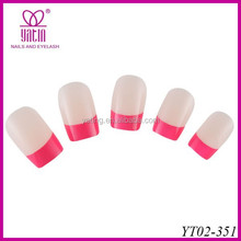ACRYLIC NAIL ARTIFICIAL TIPS WITH GLITTER FOR NAIL ART