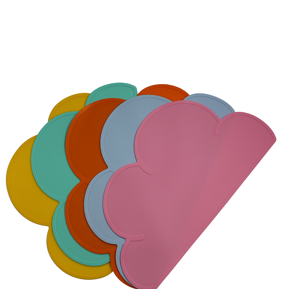 One Piece Eco-Friendly Food Mat Silicone Suction Baby Placemat Plate