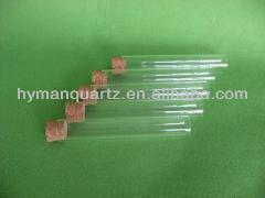 Short clear fused quartz glass rod for lab glass ware