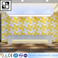 green material fireproof House Interior covering wall and ceiling Bamboo paper