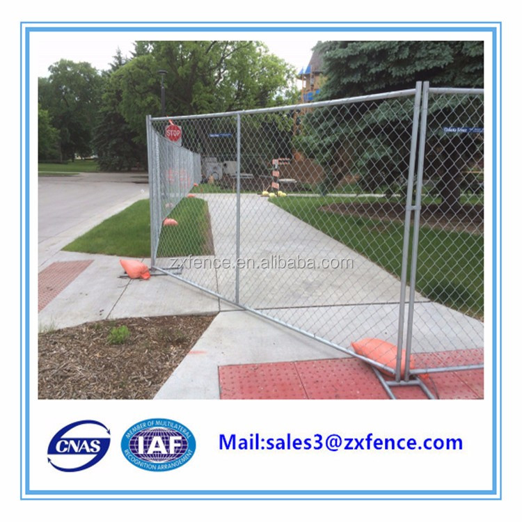 Hot selling outdoor Australia temporary chain link fence with feet
