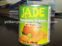 3kgx6tins Canned Whole Mandarin Oranges in Light Syrup
