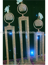 Newest ! silver wedding decoration flower stand for table/pillar/columns/crystal centerpieces