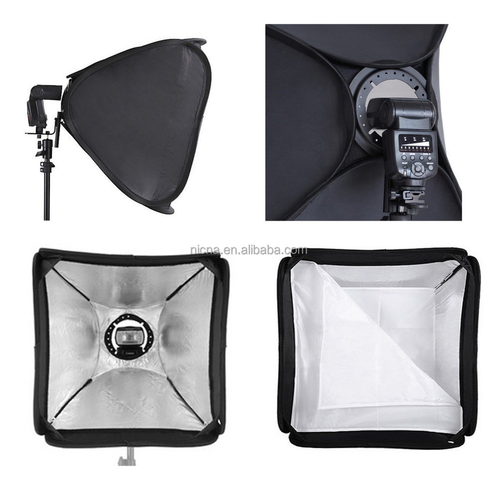 "Hot FOTGA portable 24"" 60cm Photo Studio Soft Box for Flash Light Speedlite Photo Speedlight"