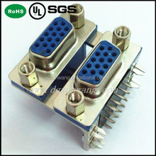 female to female d-sub stack connector/d-sub connector/db 15 d-sub connector female