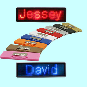 Programmable Text Scrolling LED Message Badge