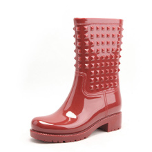 Hotsale unique design special style waterproof half rain shoes Women PVC rain boots