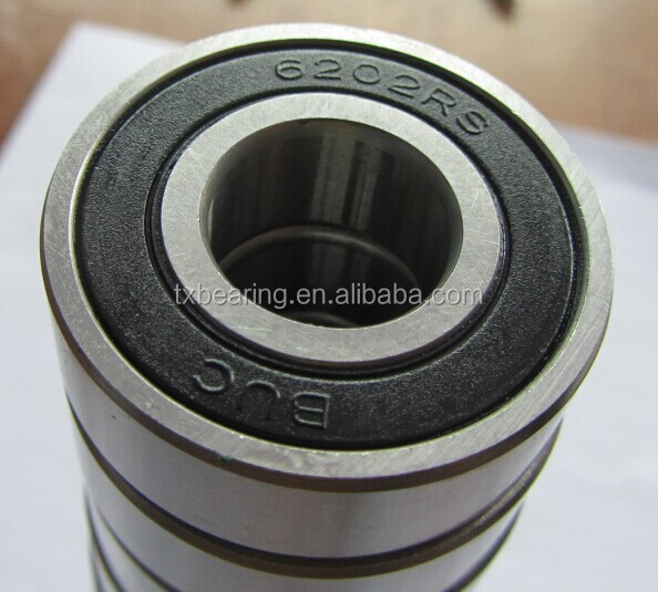 6202 rubber coated bicycle ball bearing