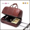 new style best brand trolley bag leather trolley travel bag
