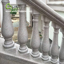 Natural stone polished balustrade outdoor landscape handrail