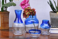 handmade color top cobalt blue glass vase