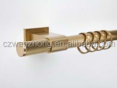 polished nickel drapery curtain rod