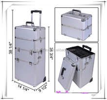 aluminum jewelry travel trolley case