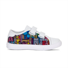 2018 trending products latest design children canvas flat new casual shoes