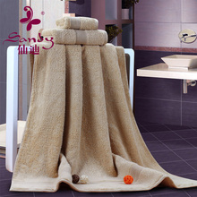 Premium Long Staple Natural Color Cotton 76x142cm Extra Large and Thick Home / Hotel Bath Towel Set Small Order Support
