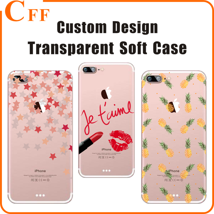 UV printing 3D Mobile Phone Case For Iphone 5 5s 5c SE phone cover for Apple iphone 7 7plus silicon Transparent case