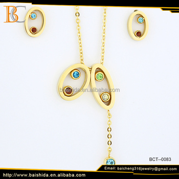 cheap perfect design jewelry necklace earring sets china supplier