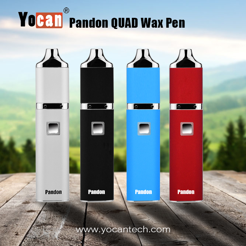 Original wholesale Yocan Pandon wholesale wax meth vaporizer with two quartz two coils heat up instantly voltage adjustable