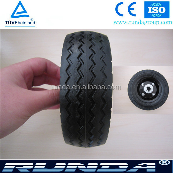 6 Inch Solid Rubber Wheels for Trolley