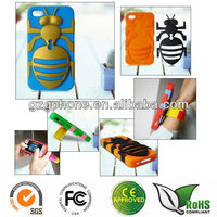 Silicone&PC back cover for iphone 4/4s case
