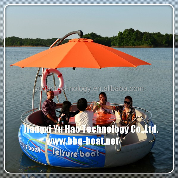 Rowing sport boat with electric motor, Leisure raft with electric motor