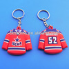 Promotion PVC Puck Keychain Hockey Keyring For Fans