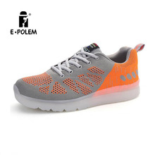 New style men's led ligh shoes with mesh fabric branded shoe copy