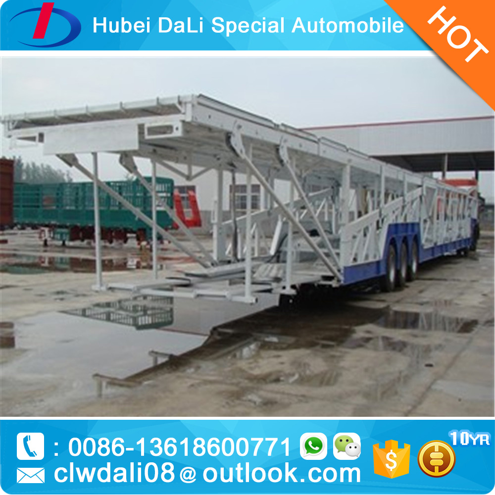 hot sale 3 axles Car carrier trailer can transport 6 cars semitrailer for vietnam