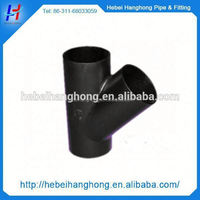 Trade Assurance Supplier carbon steel pipe fitting y type butt welded lateral tee